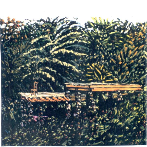 Deck, painting by Pat West
