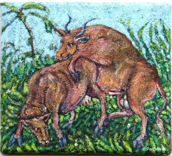 """Bali Water Buffalos"" by Pat West"