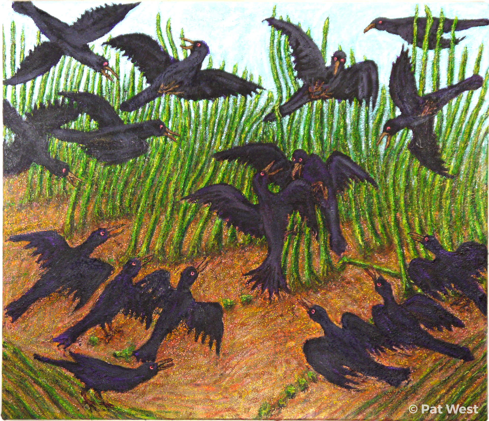 """Crow Fight"" by Pat West"